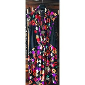 Colorful abstract designed Dress